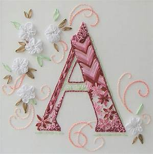 image gallery monogram ribbon embroidery With ribbon letter monogram