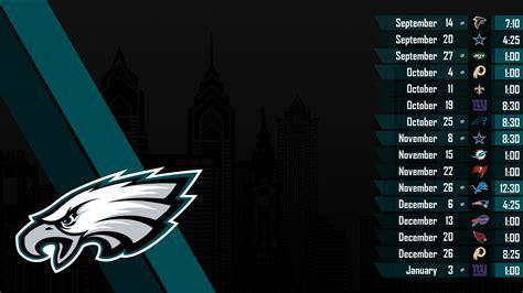 Dallas Cowboys 2015 Schedule Wallpaper Philadelphia Eagles 2018 Schedule Wallpaper