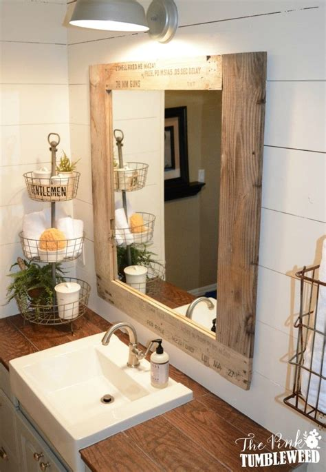 How To Make A Frame For A Bathroom Mirror by 10 Pallet Projects You Can Make For Your Bathroom Tiny