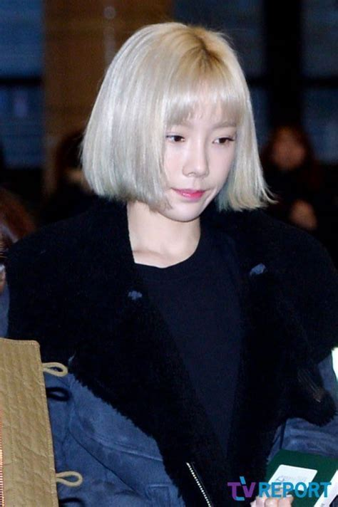 Taeyeon Surprises Fans With Short Hairstyle! :: Daily K