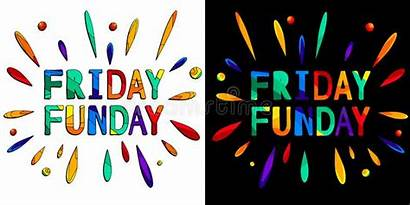 Funday Cartoon Illustration Friday Clipart Funny Colorful