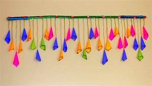 DIY Very Easy Handmade Door Hanging TORAN - Paper Cone