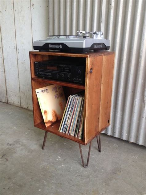 diy record player cabinet record cabinet record player stand and lp storage on