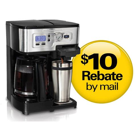Being a two way brewer means you have the convenience of using this splendid appliance as a single serve coffee machine when you are solo. Hamilton Beach 2-Way FlexBrew Coffee Brewer - 49983