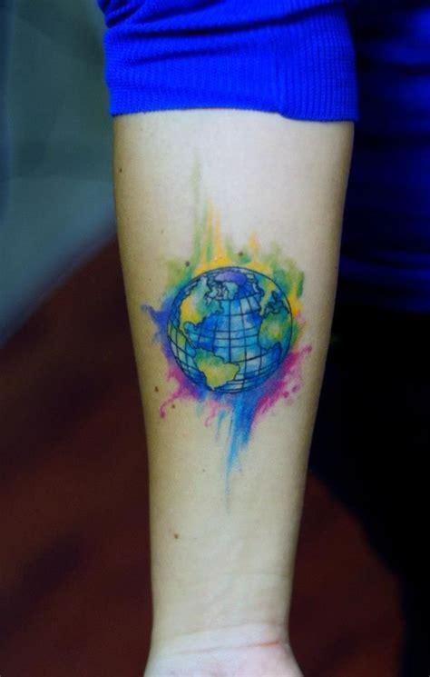 watercolor earth tattoo tattoomagz tattoo designs