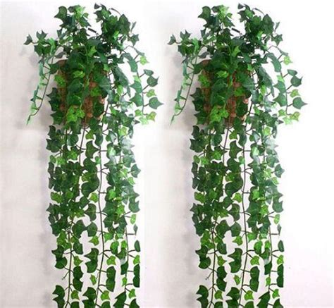 Anti aging beautiful 40cm 16pcs artificial fern leaf for landcaping. 2019 2.5 M Long Artificial Ivy Leaf Garland Plants Vine ...