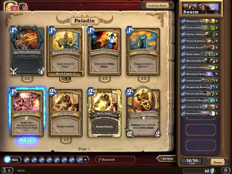 Hearthstone Decks Paladin by Impressions Hearthstone Heroes Of Warcraft Nag