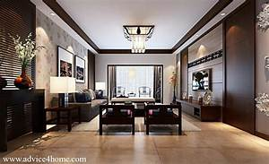 White coffee ceiling pop design and wall in living
