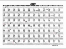 Editable 2018 Yearly Excel Scheduling Calendar Free
