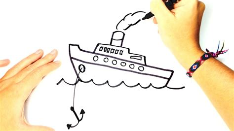 Ferry Boat Drawing Easy by How To Draw A Boat For Boat Easy Draw Tutorial