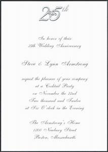 6 best images of 25th anniversary invitations printable With free printable silver wedding anniversary invitations