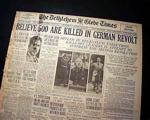 The Night Of The Long Knives ADOLPH HITLER Hermann Goering ...