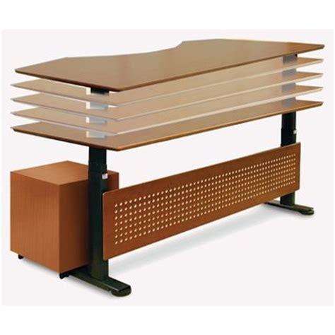 motorized standing desk in wood 63 quot top wayfair