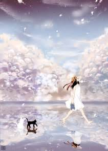 Anime Girl Walking On Water