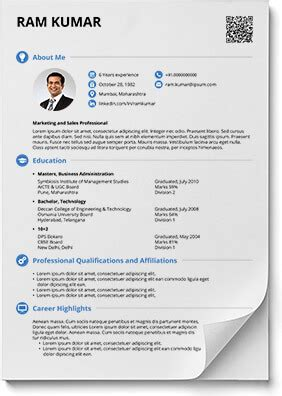 resume formats  word