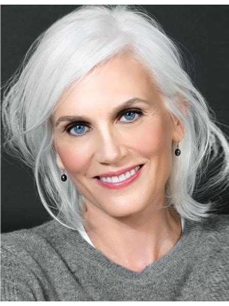 lace front silver grey wig  white  women rewigscouk
