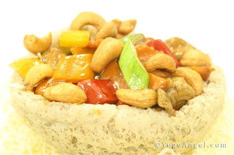 vegetarian recipe taro basket  mixed vegetables