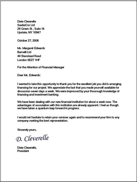 formal business letters business