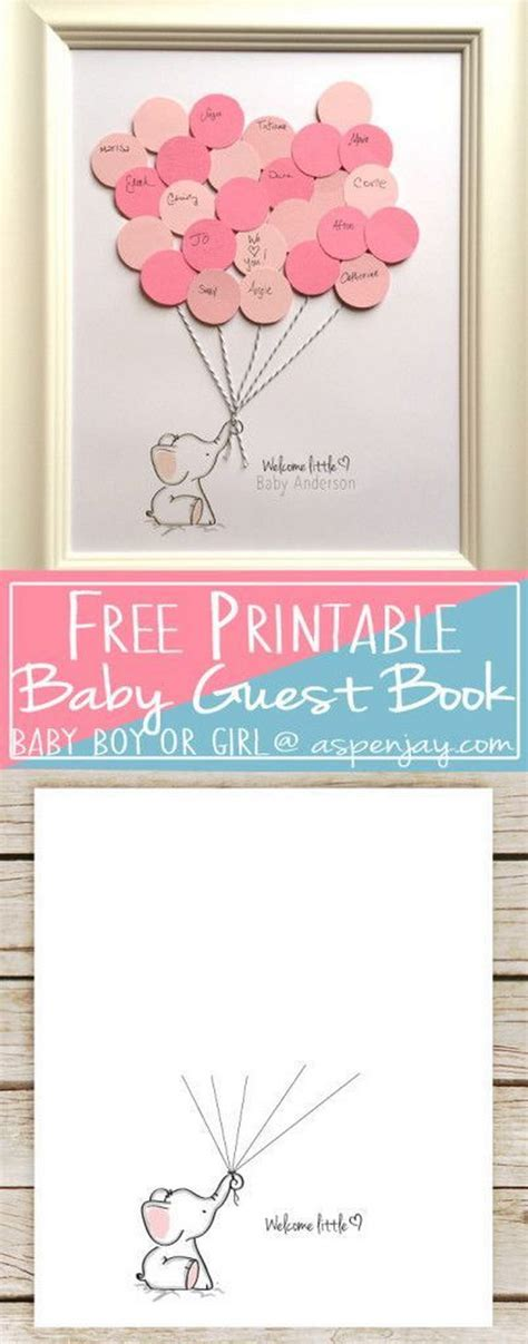 cool diy baby shower guest book ideas noted list