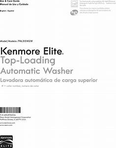 Kenmore Elite 79631512211 1306487l User Manual Washer