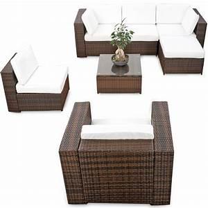 Lounge Gartenmoebel Guenstig : modulares 21tlg xxl lounge gartenm bel polyrattan braun mix lounge m bel sets ~ Markanthonyermac.com Haus und Dekorationen