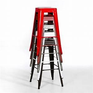 Chaise De Bar Industriel : tabouret de bar tolix empilable ~ Teatrodelosmanantiales.com Idées de Décoration