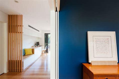 slated timber screen   light filled interior transform