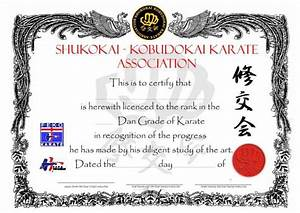 26 Awesome Karate Certificate Template