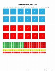 printable algebra tiles color grade 6 free printable With algebra tiles template