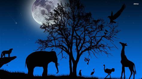 Animal Silhouette Wallpaper - animal silhouette wallpaper 1920x1080 11397