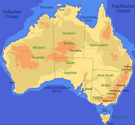 australia region map states map  australia australian
