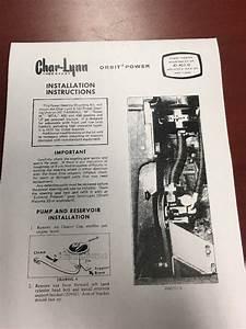 Char Lynn Power Steering Installation Instructions M Sm