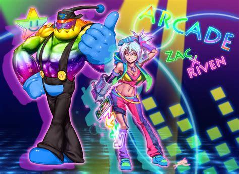 Arcade Zac X Riven By Ptcrow On Deviantart