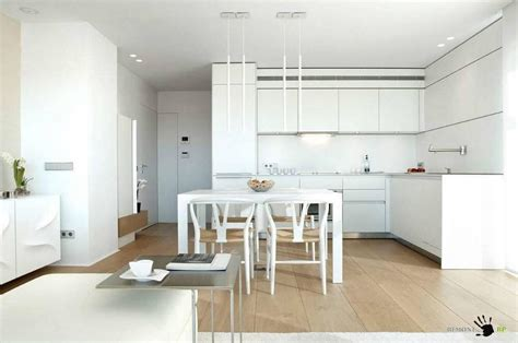 Amazing White Living Space With Open Kitchen And Dining