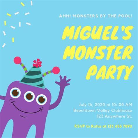 customize  kids party invitation templates