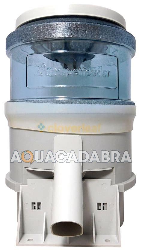 auto fish feeder cloverleaf electronic automatic fish feeder 5lbs 10lbs