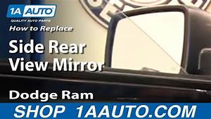 How To Replace Install Side Rear View Mirror 2009