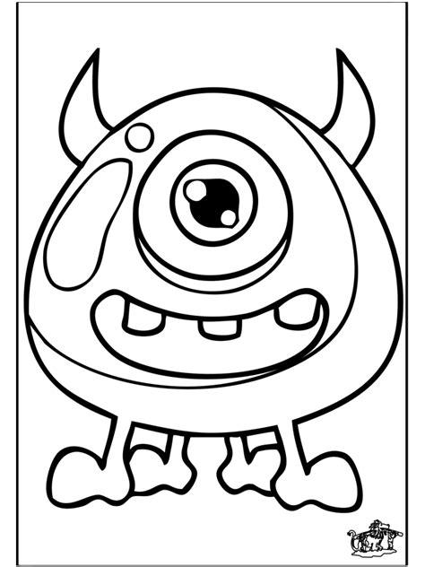 Kleurplaat Enge Monsters by Overige