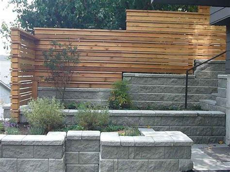 retaining wall fence ideas makipera