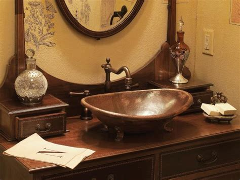copper bathroom sinks hgtv