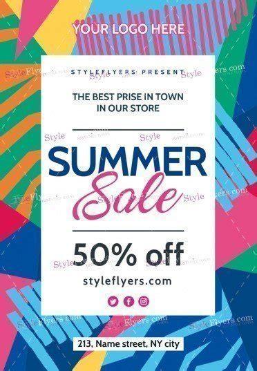 summer sale psd flyer template 18785 styleflyers