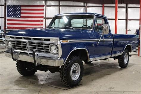 ford   miles blue pickup truck