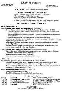 customer service resume sle sle resume customer