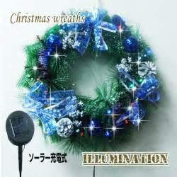 kmmart rakuten global market solar 30 lights christmas wreath led illuminated merry christmas