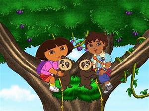 Dora The Explorer And Diego In A Tree Pictures