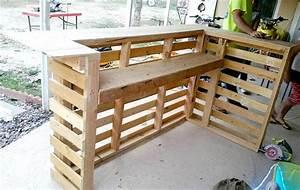 DIY Pallet Bar Pallet Furniture DIY