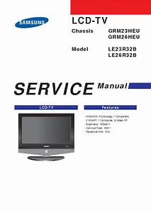 Samsung Grm23heu Chassis Le23r32b Lcd Tv Sm Service Manual