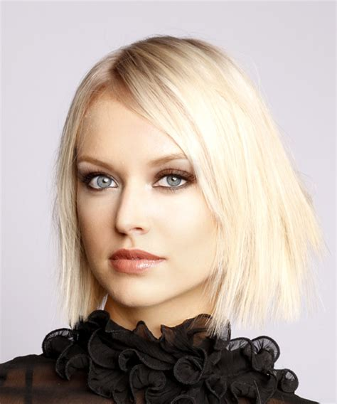 Light Hairstyles by Formal Bob Hairstyle With Side Swept Bangs