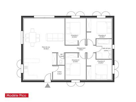 Couper Le Souffle Plan Maison Plain Pied 100m2 3 Chambres