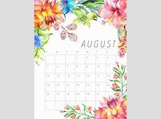 Free Printable 2018 Floral Calendar The Cottage Market